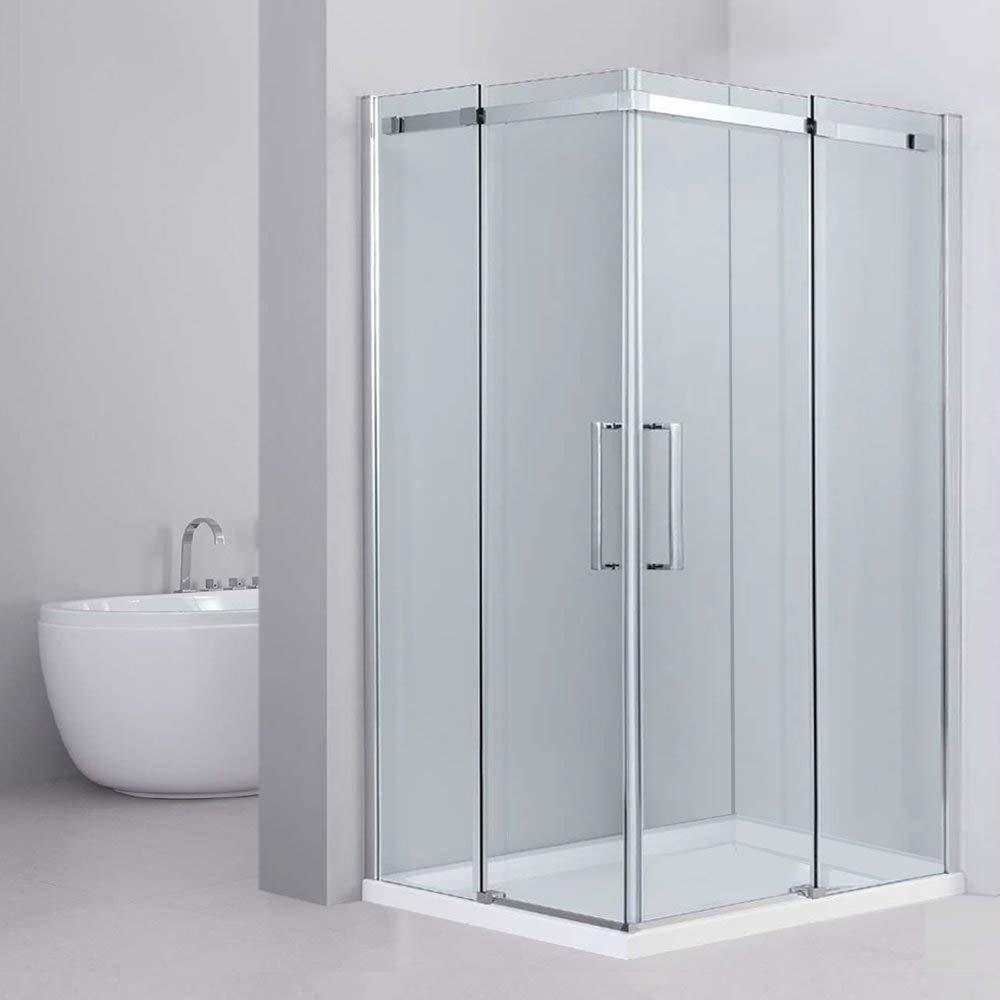 Box Doccia Ante Scorrevoli.Box Doccia Angolo 70 X90 Cm Linea Modern In Cristallo Trasparente