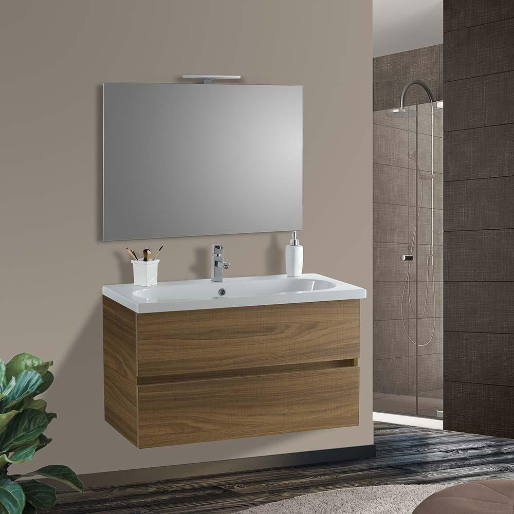 mobile bagno 2 cassettoni lavabo specchio vica londra 70
