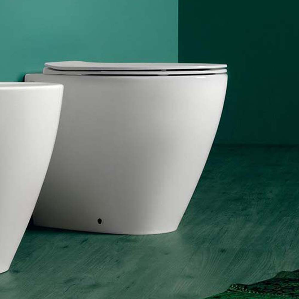 Sanitari filomuro simas modello lft vaso con sedile slim soft close in offerta.