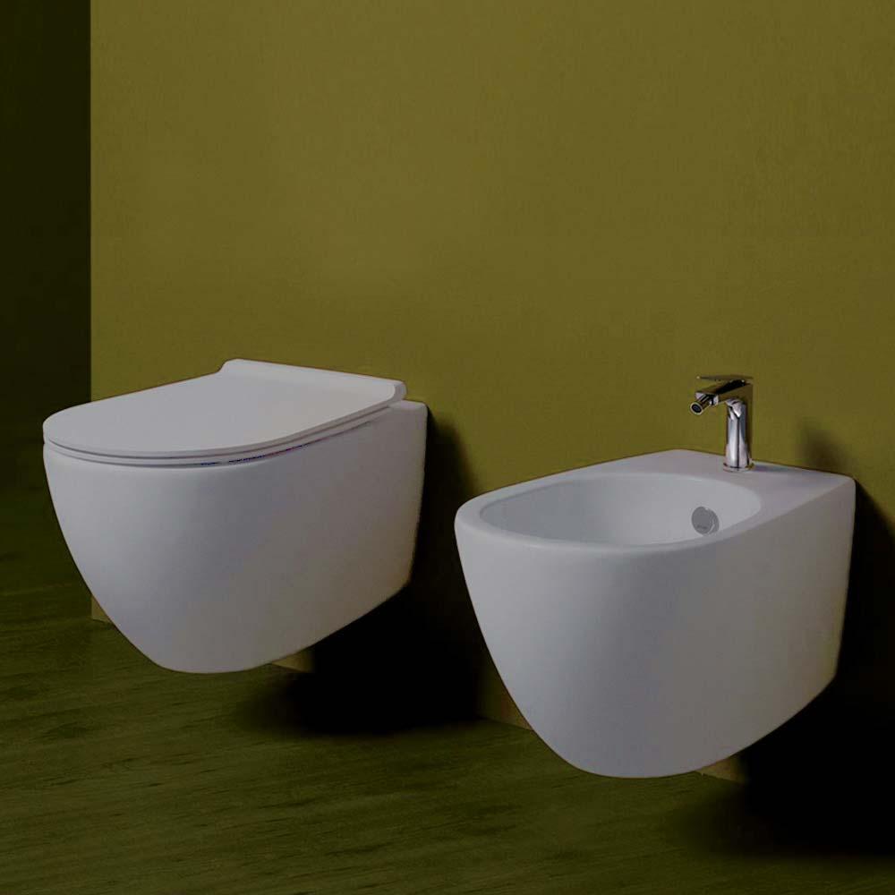 Bagno Senza Bidet Normativa simas vignoni sanitari sospesi wc sedile soft close bidet bianco matt |  miroma ceramiche e arredo bagno