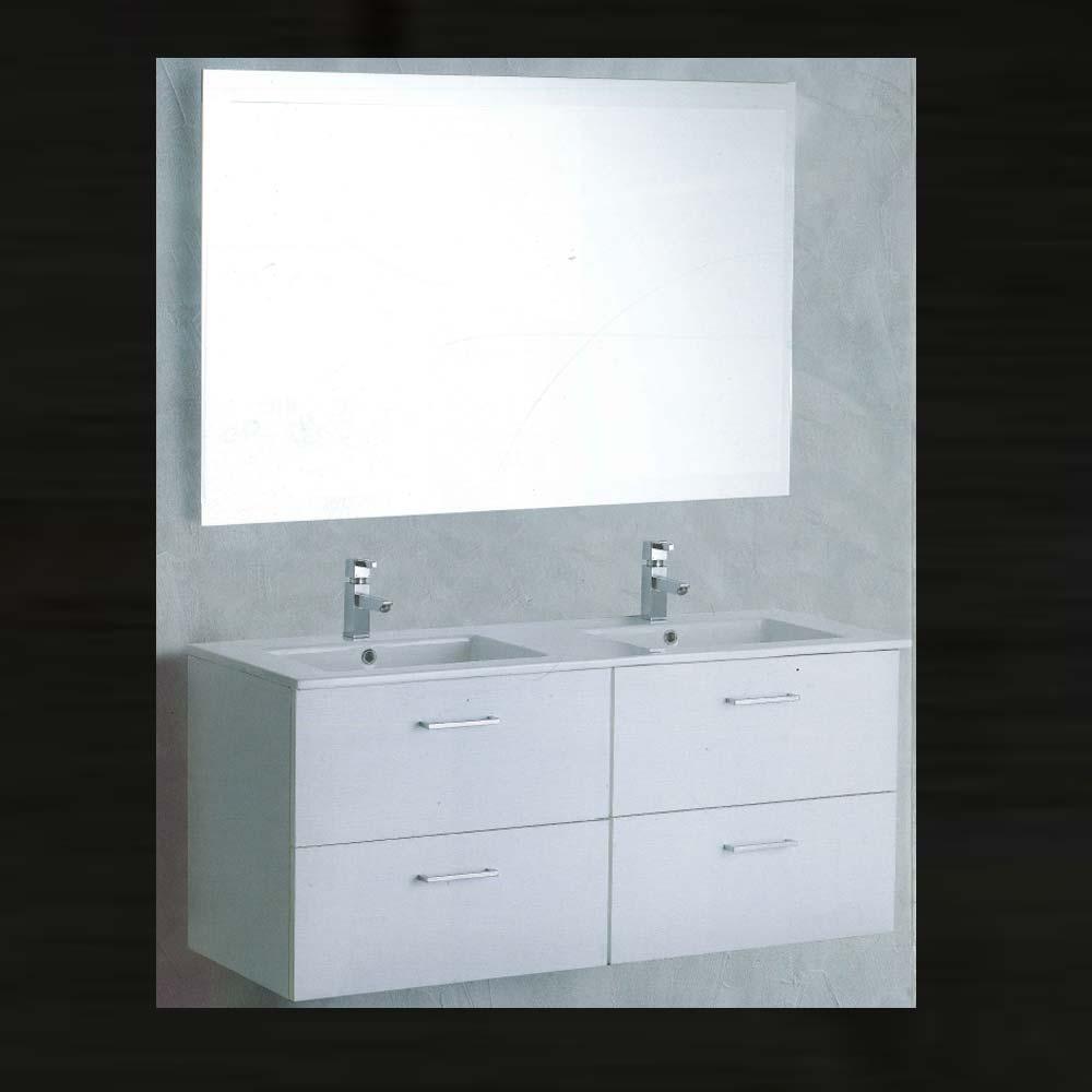 vica mobile bagno 2 cassettoni doppio lavabo specchio