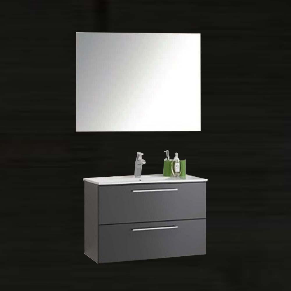 Mobile bagno 2 cassettoni lavabo specchio vica londra 80 for Vica arredo bagno