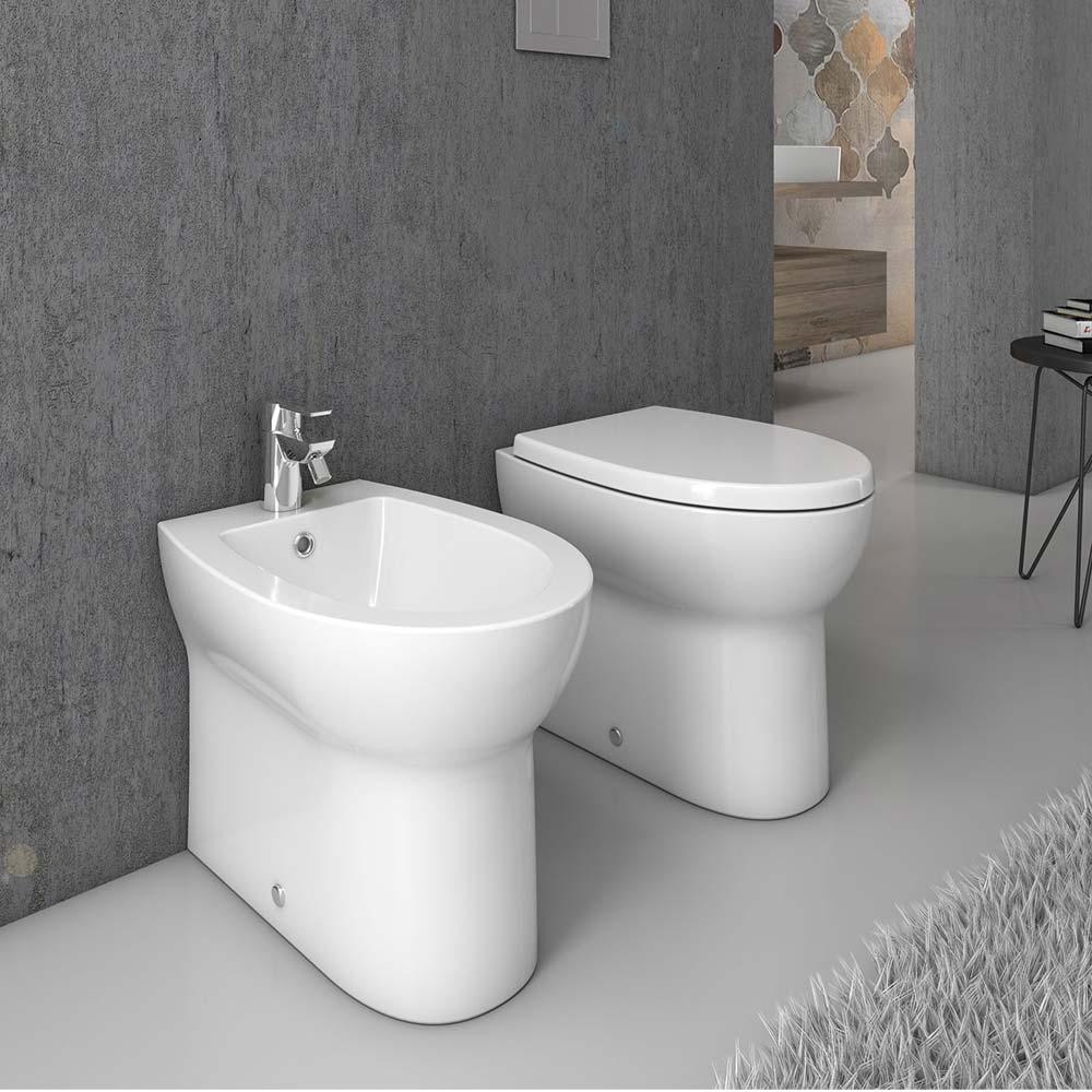 Bagno Senza Bidet Normativa sanitari filomuro vaso sedile slim soft close bidet sanindusa eureka |  miroma ceramiche e arredo bagno