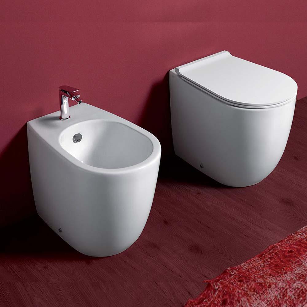 Bagno Senza Bidet Normativa simas modello vignoni sanitari filomuro wc sedile soft close bidet | miroma  ceramiche e arredo bagno
