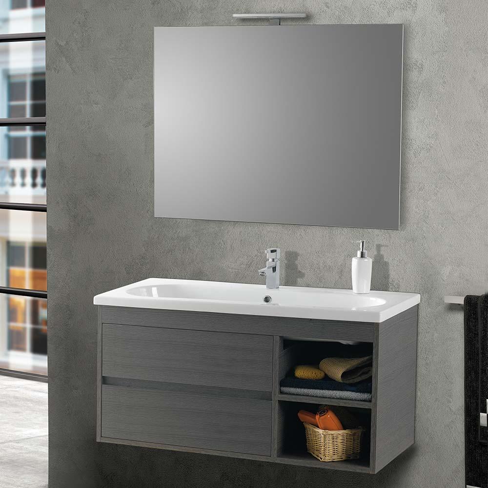 mobile bagno 2 cassettoni lavabo specchio vica londra