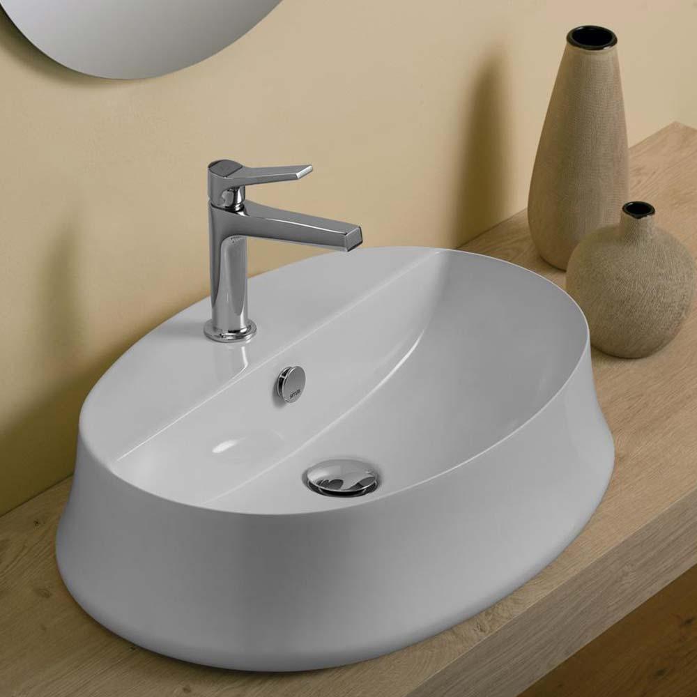 Piletta Per Lavabo Da Appoggio simas sharp lavabo ovale in ceramica da appoggio monoforo 60 x 42 cm    miroma ceramiche e arredo bagno