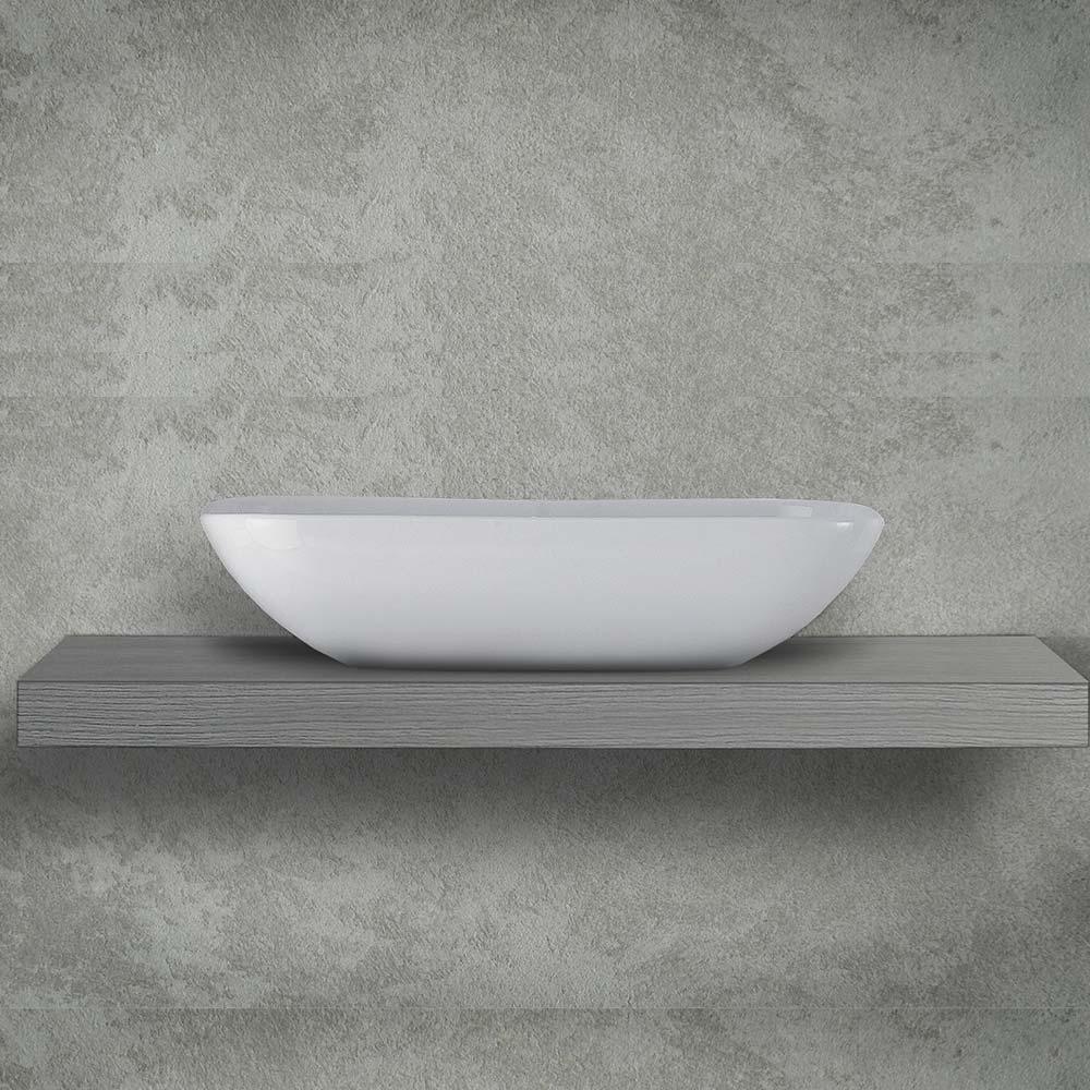 Piano Per Lavabo Da Appoggio mensolone 100 cm per lavabi da appoggio h 9 cm olmo grigio | miroma  ceramiche e arredo bagno