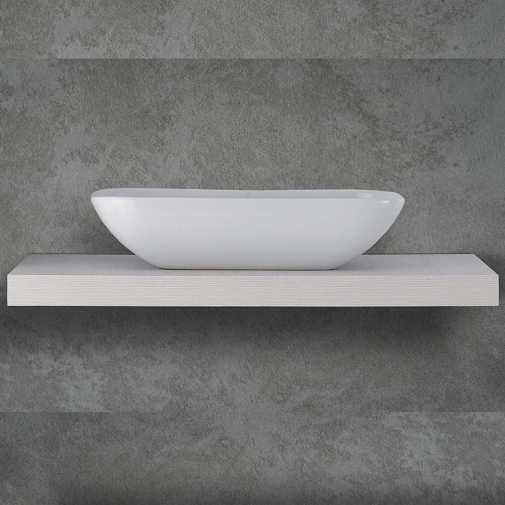 Piano Per Lavabo Da Appoggio mensolone 120 cm per lavabi da appoggio h 9 cm bianco frassino | miroma  ceramiche e arredo bagno