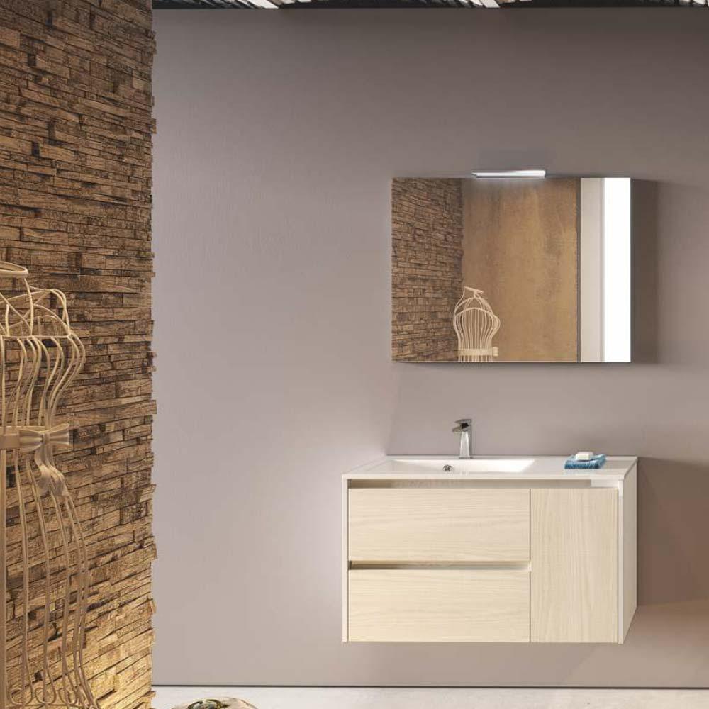 Mobile bagno 2 cassetti 1 anta lavabo specchio Idea Stella ...