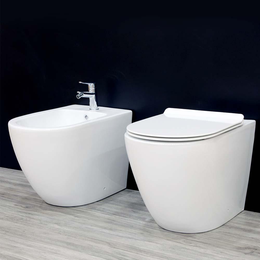 Bagno Senza Bidet Normativa sanitari filomuro vaso sedile soft close bidet miroma shop asso | miroma  ceramiche e arredo bagno
